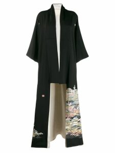 A.N.G.E.L.O. Vintage Cult 1970's printed kimono coat - Black