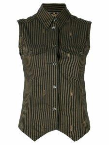 Fendi Pre-Owned striped sleeveless shirt - Brown