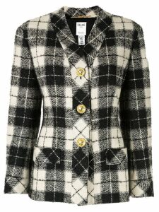 Céline Pre-Owned check pattern blazer - Black