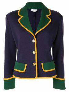 Céline Pre-Owned colourblock fitted jacket - Purple