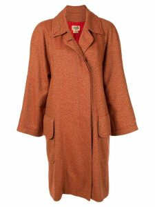 Hermès Pre-Owned cashmere single-breasted coat - Orange