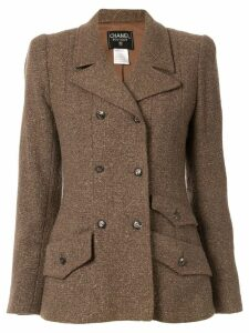 Chanel Pre-Owned peaked lapel blazer - Brown
