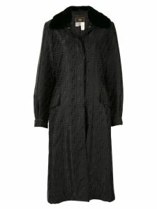 Fendi Pre-Owned FF motif printed coat - Black