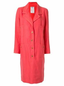 Chanel Pre-Owned single-breasted blazer dress - Pink