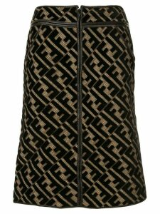 Fendi Pre-Owned FF motif knee-length skirt - Brown