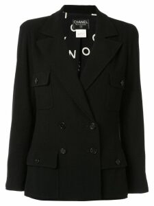 Chanel Pre-Owned double-breasted blazer - Black
