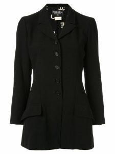 Chanel Pre-Owned single-breasted blazer jacket - Black