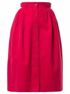 Christian Dior Pre-Owned gathered midi skirt - Pink