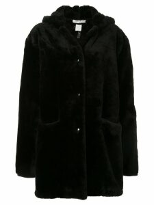 SONIA RYKIEL PRE-OWNED faux fur hooded coat - Black