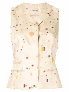 Hermès Pre-Owned x Margiela planets pattern waistcoat - White