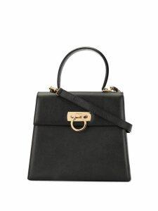 Salvatore Ferragamo Pre-Owned Gancini 2-way top-handle bag - Black