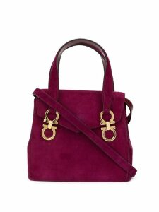 Salvatore Ferragamo Pre-Owned Gancini 2-way top-handle bag - Purple