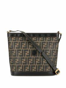 Fendi Pre-Owned Zucca Shoulder Bag - Brown