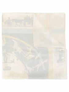 Hermès Pre-Owned Jeux d'Ombres Scarf - White