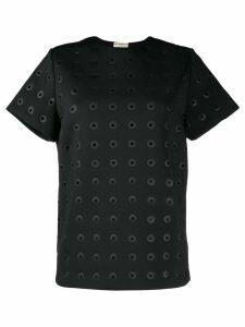 Balenciaga Pre-Owned eyelet detailed T-shirt - Black