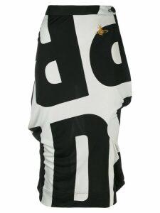 Vivienne Westwood Pre-Owned logo print midi skirt - Black