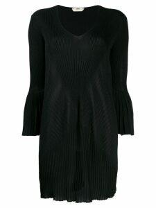 Fendi Pre-Owned pleated detailed mini dress - Black