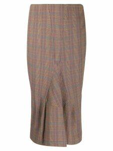 Junya Watanabe Comme des Garçons Pre-Owned high-waist check midi skirt