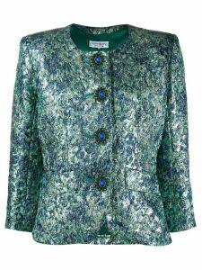 Yves Saint Laurent Pre-Owned lurex patterned jacket - Green