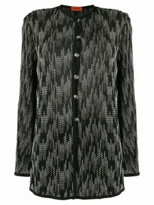 Missoni Pre-Owned bouclé patterned buttoned coat - Black