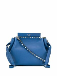 Valentino Valentino Garavani Rockstud leather bucket bag - Blue