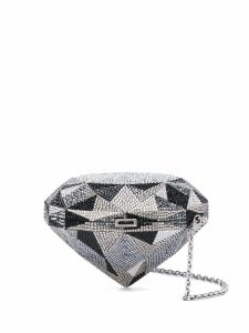 Judith Leiber Couture embellished clutch bag - Silver