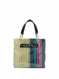 Marni striped tote bag - Yellow