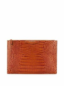 Givenchy logo clutch bag - Brown