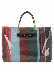 Marni large Glossy Grip tote bag - Blue