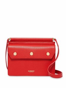 Burberry Mini Leather Title Bag - Red
