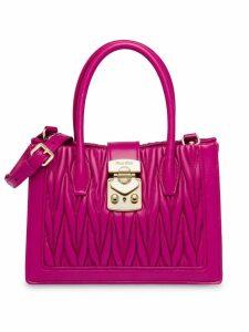 Miu Miu Matelassé top handle bag - Pink