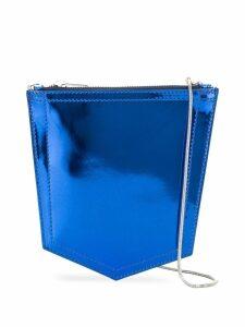 Mm6 Maison Margiela metallic crossbody bag - Blue