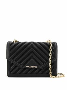 Karl Lagerfeld K/Klassik quilted shoulder bag - Black