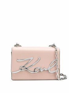Karl Lagerfeld small K/Signature shoulder bag - Pink
