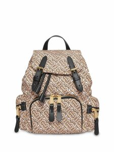 Burberry The Small Rucksack in Monogram Print Nylon - Neutrals