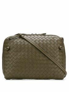 Bottega Veneta intrecciato cross body bag - Green