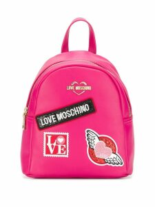 Love Moschino patch detail backpack - Pink