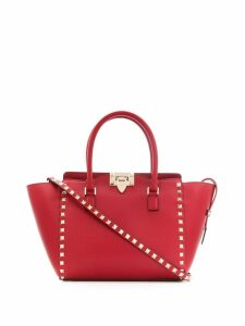 Valentino Valentino Garavani small Rockstud top-handle bag - Red