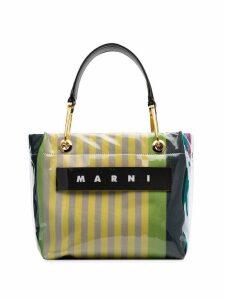 Marni striped Glossy Grip tote bag - Stc37 Multicoloured
