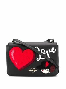 Love Moschino love patch messenger bag - Black