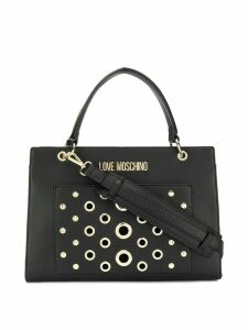Love Moschino eyelet detail tote - Black