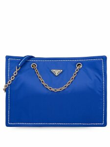 Prada large box tote bag - Blue