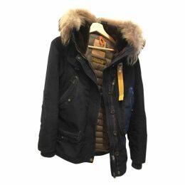 Navy Fur Coat