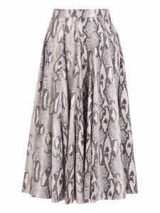 MSGM Python Print Skirt