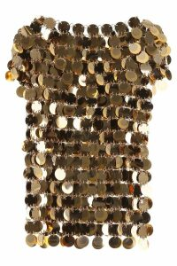 Paco Rabanne Gold Sequins Top