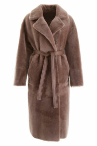 Blancha Reversible Shearling Coat