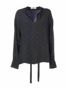 Valentino L/sleeves Blouse With Logo Print
