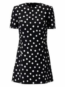 Saint Laurent Polka Dot Print Dress