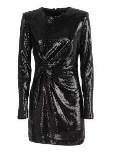 Parosh Dress L/s W/paillettes And Drape