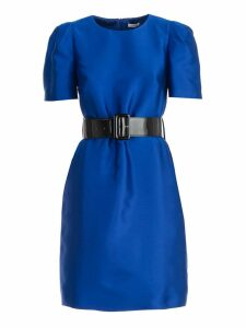 Parosh Dress S/s Flared W/belt